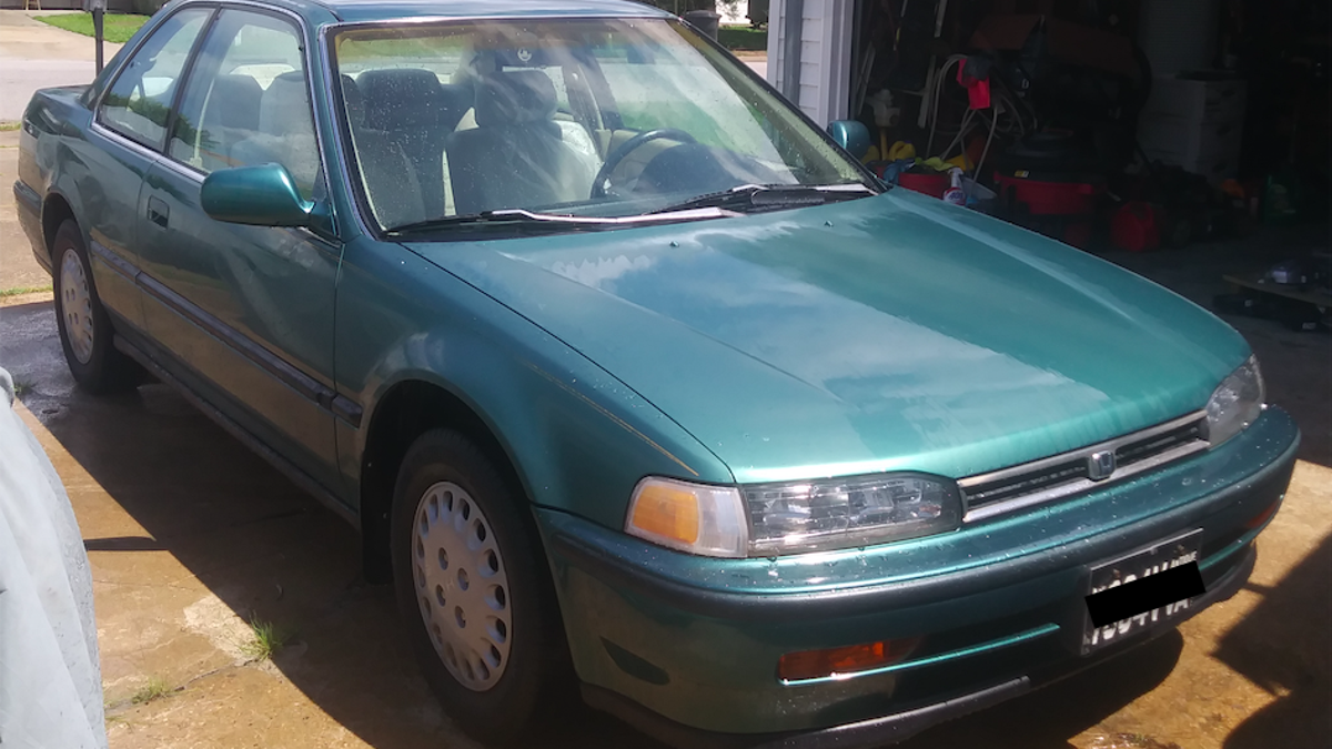 Hero Saves 20,000-Mile 1992 Honda Accord Coupe From The Crusher, Scores 'Barn Find' For $800