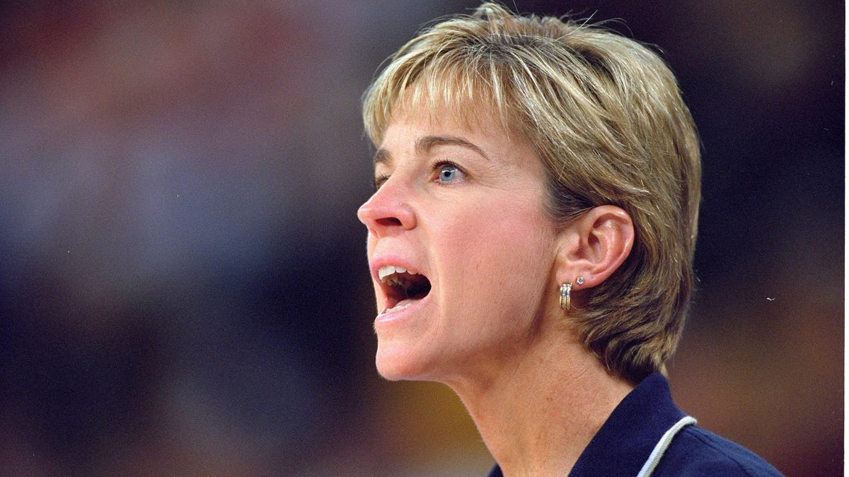 Georgia Tech coach Nell Fortner thanks the NCAA for telling on themselves