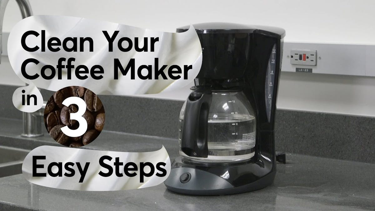 Deep Clean Your Auto Drip Coffee Maker In Three Easy Steps