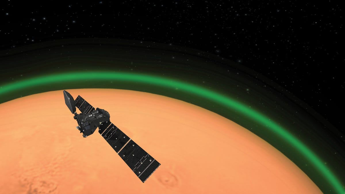 A Green Glow Has Been Detected in the Martian Atmosphere
