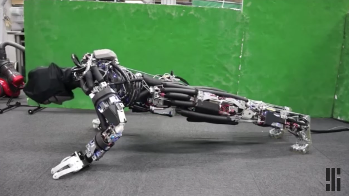 This Humanoid Robot Sweats With Its Skeleton