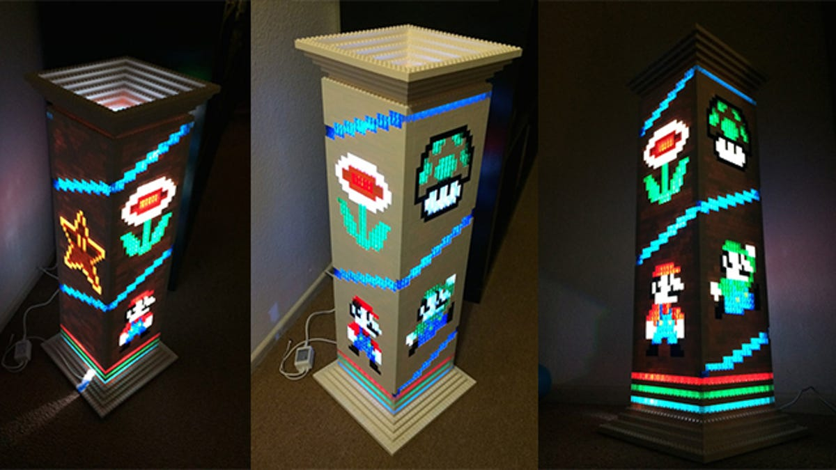 This Lego Mario Brothers Lamp Is The Geekiest Way To Spend 2 200
