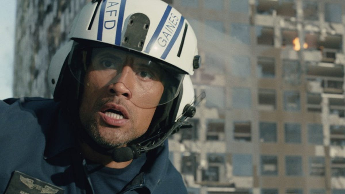 It's the Earth versus The Rock in the tension-free San Andreas