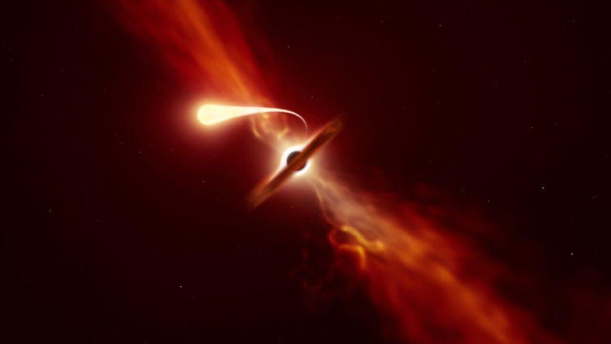 Astronomers Observe Star Being 'Spaghettified' by a Supermassive Black Hole – Gizmodo