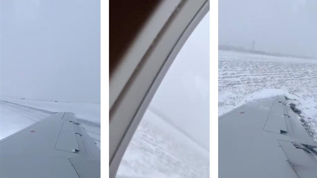 Esto es lo que puede pasar cuando un avión aterriza sobre una pista congelada