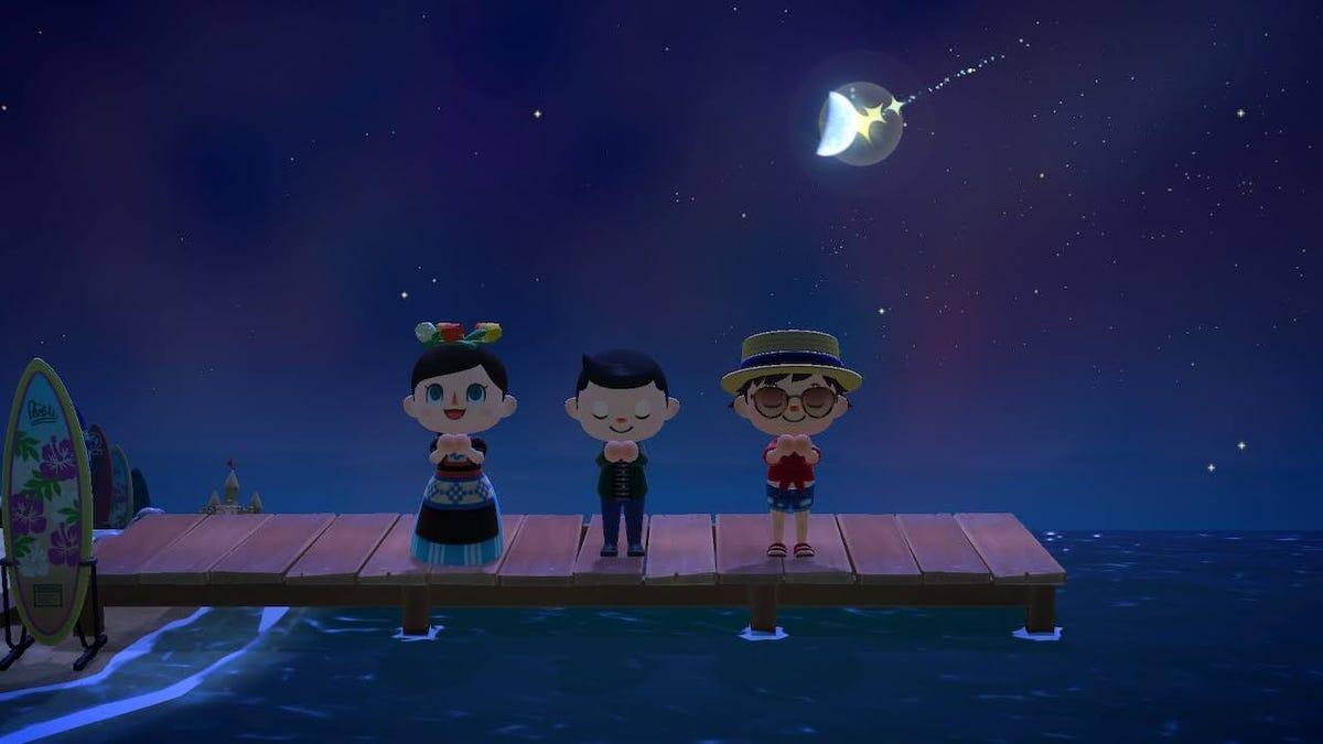 Como prever shows de meteoros no 'Animal Crossing' 6