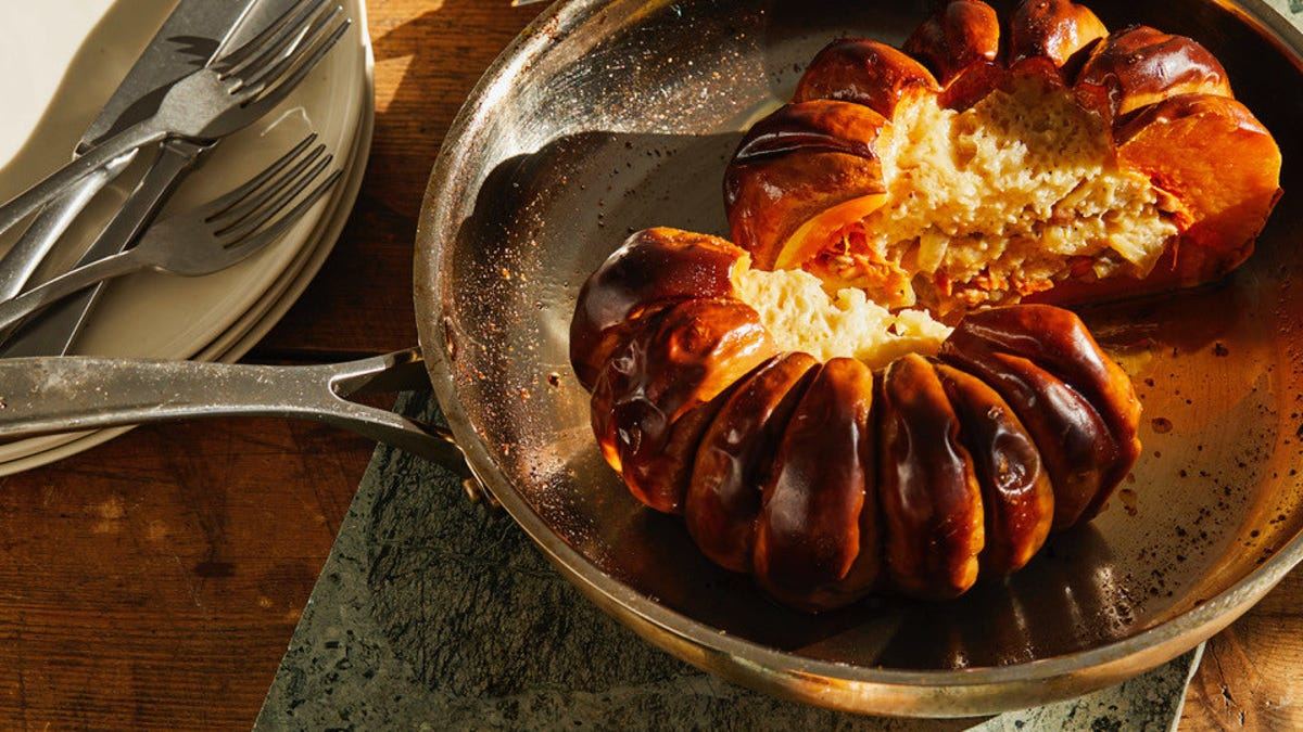 This cheese-stuffed pumpkin is an easier-than-it-looks showstopper