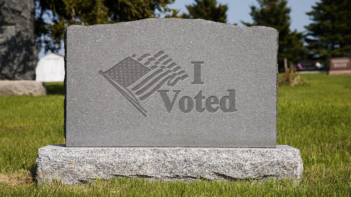 Wisconsin Primary Voters Receive 'I Voted' Gravestones - the onion