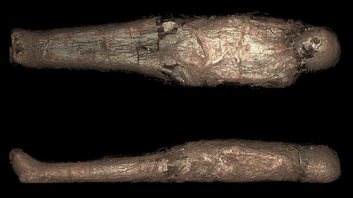 Analysis of Ancient Egyptian Mummy Reveals Unusual Mud Ritual