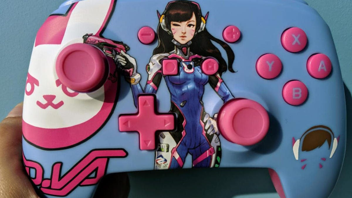Overwatch's Dva features in a brand new Switch controller, which I had to grab the moment I saw it. While it looks great in the box, the Dva controller doesn't feel half as high-quality as a Switch Pro controller, which is $20 more expensive. Thankfully, it has motion controls, so we'll be able to take full advantage of the motion controls in Overwatch's Switch port, releasing today. Look forward to our upcoming coverage.