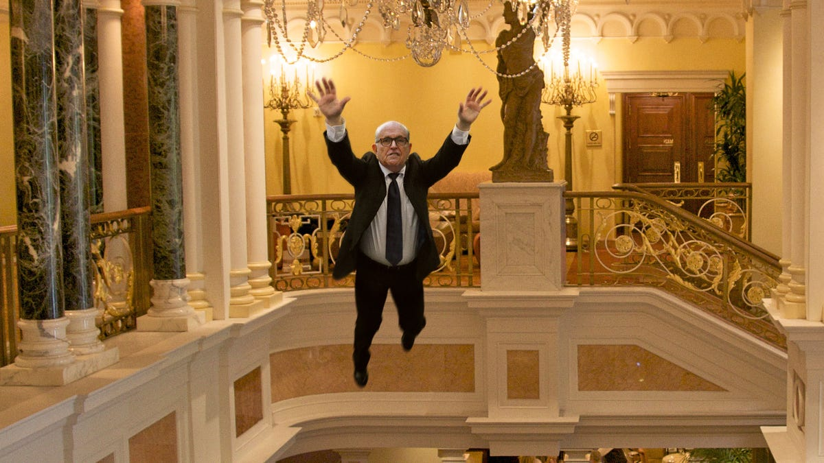 'You'll Never Take Me Alive!' Shouts Giuliani Jumping Onto Chandelier And Immediately Falling 3 Stories