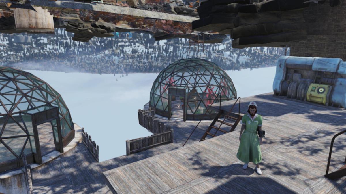 Una jugadora de Fallout 76 está aprovechando un glitch para construir su propio mundo bajo el mapa del juego