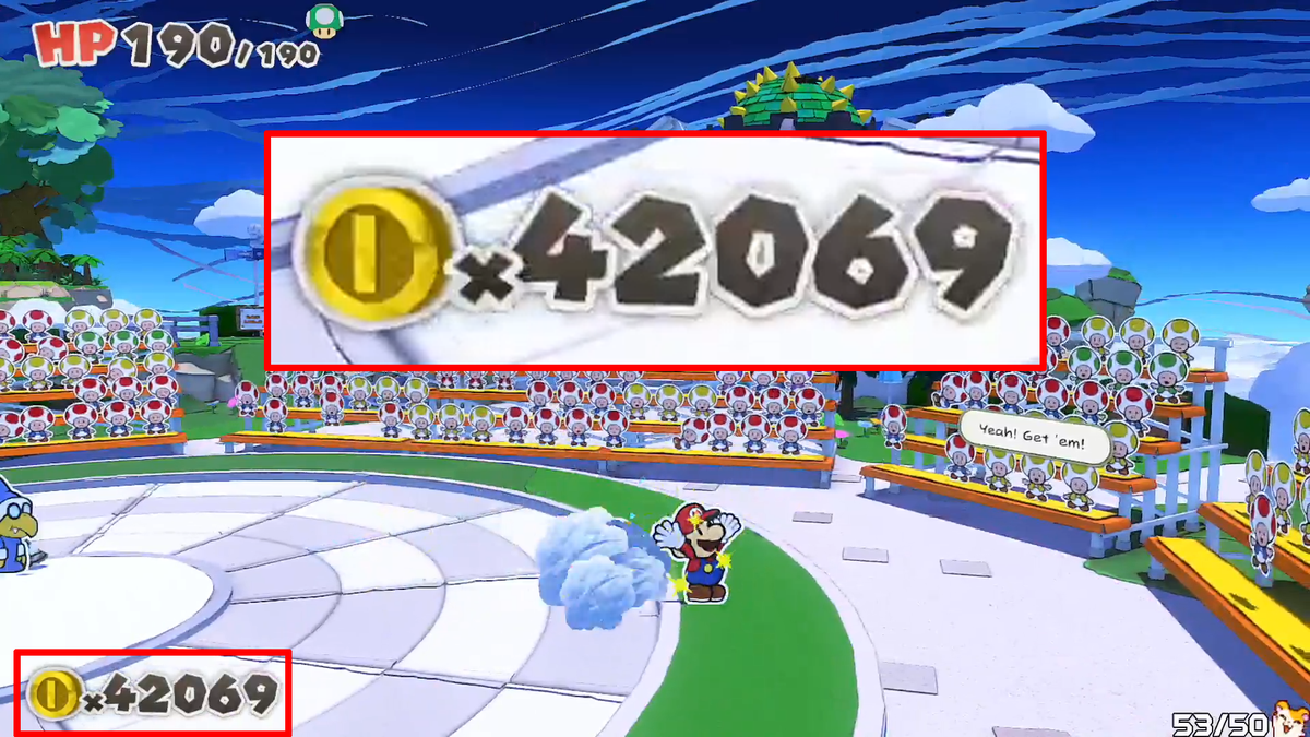 Paper Mario Player's Coins Hit A Very Nice Number thumbnail