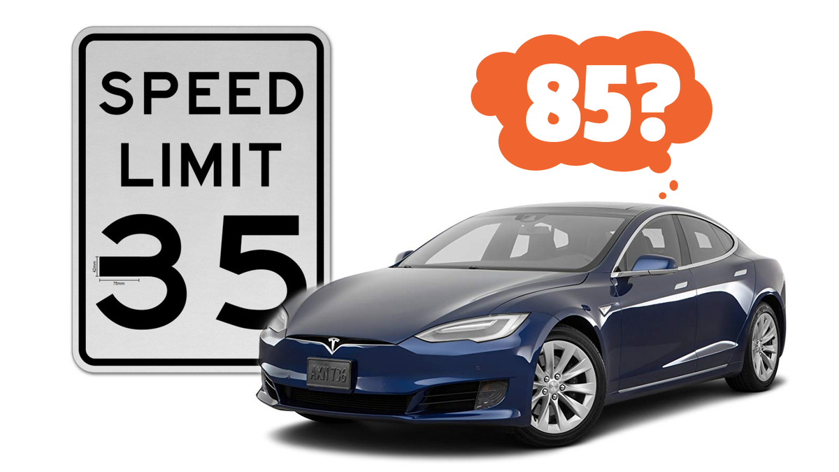Test Confirms A Tesla Can Be Fooled Into Speeding In A Hilariously Dumb Way