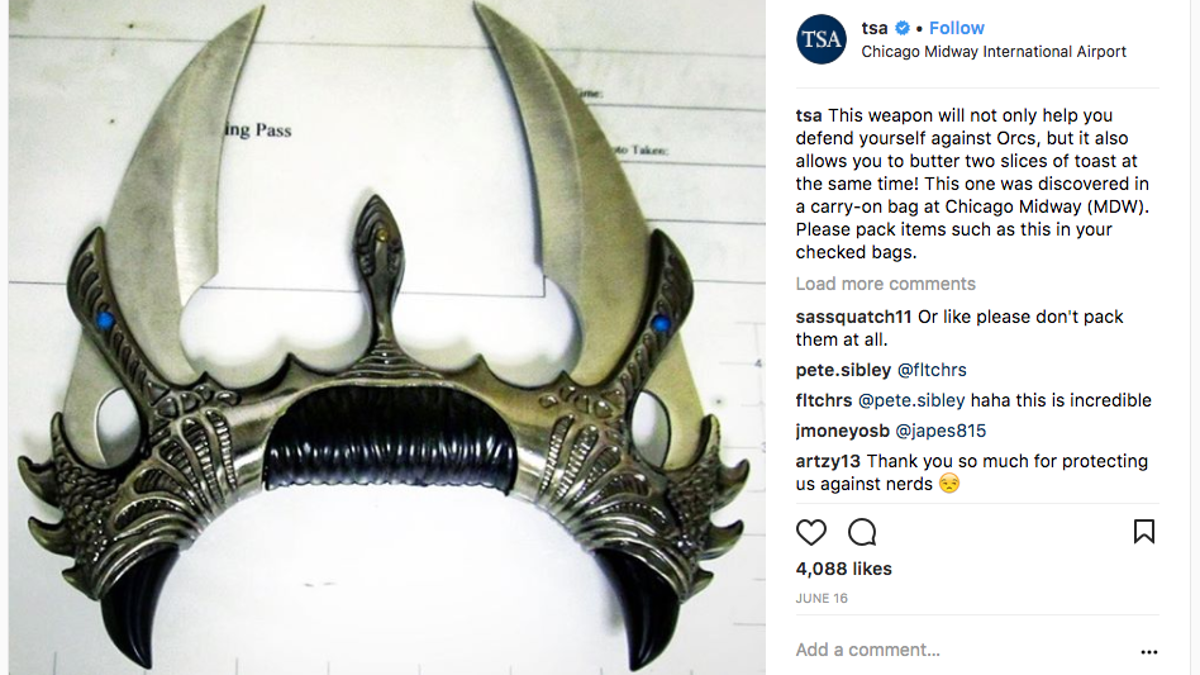 This Is The Most Hilarious Stuff TSA Confiscated In 2017