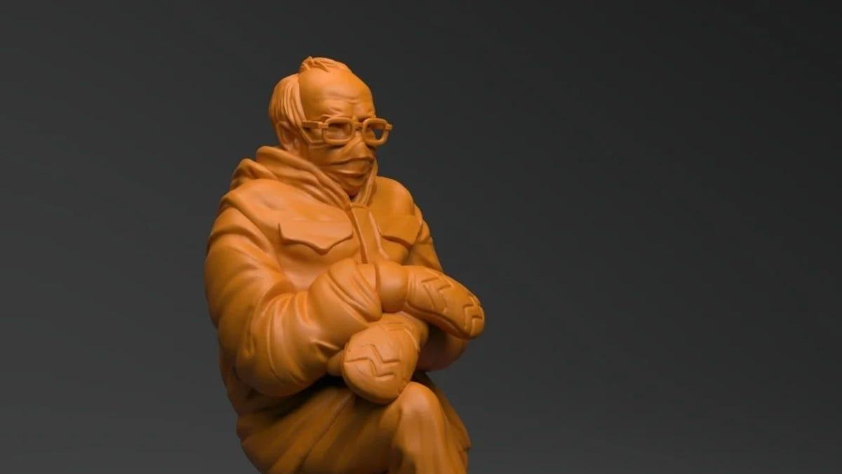 3D Print Your Own Pouting Bernie