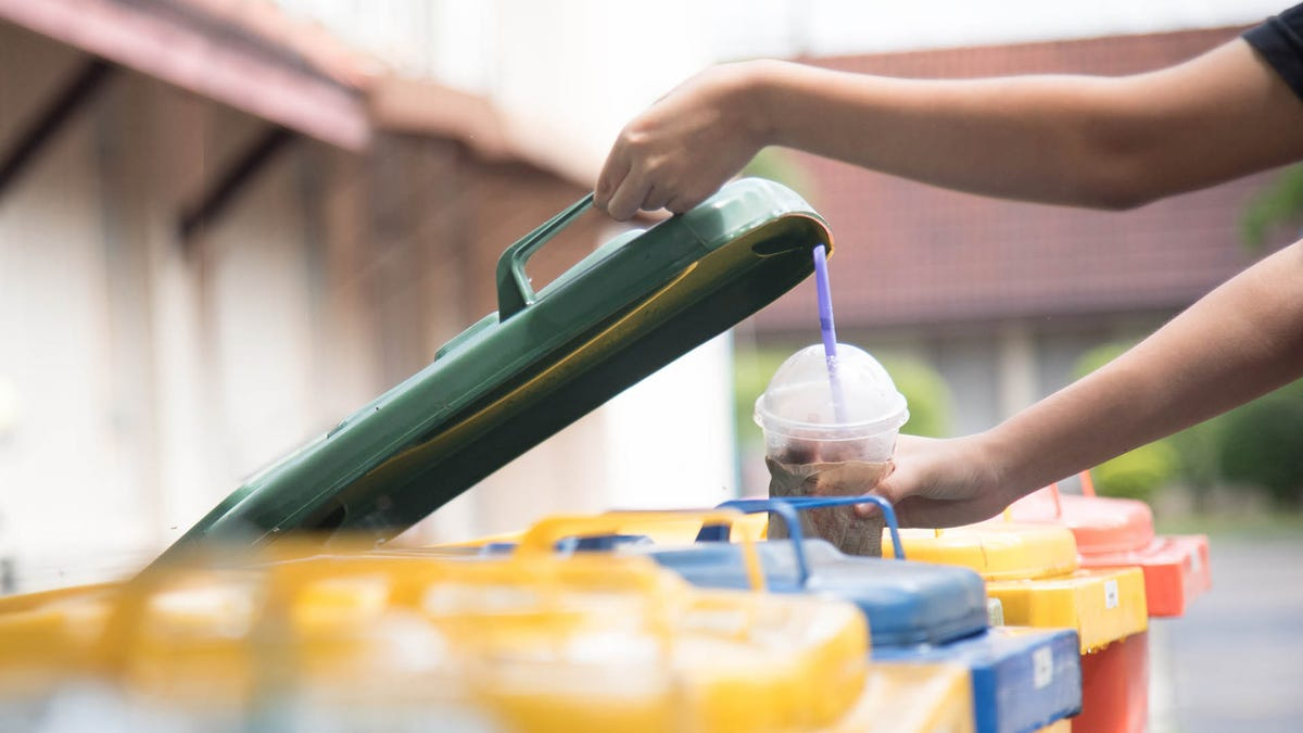 How clean should food containers be if you want to recycle them?
