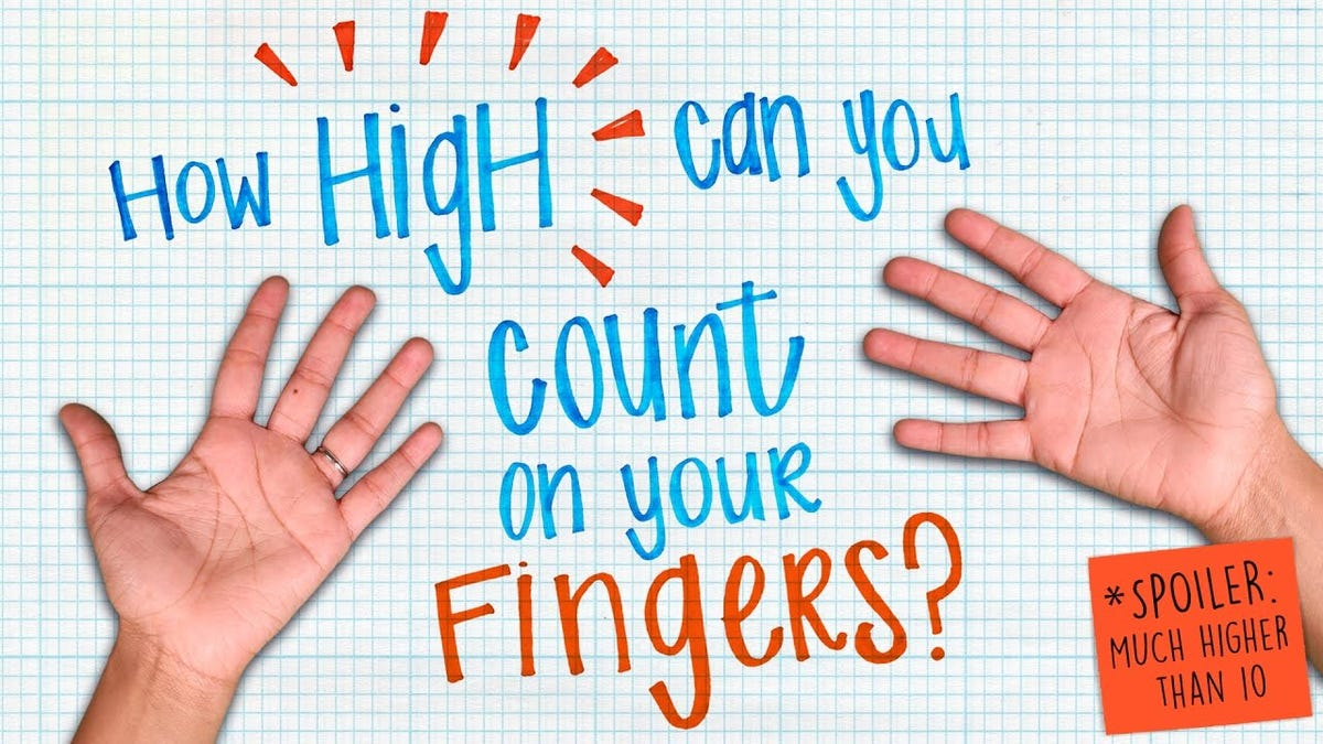 Use the Binary Finger Method to Easily Count to 59,048 or Higher