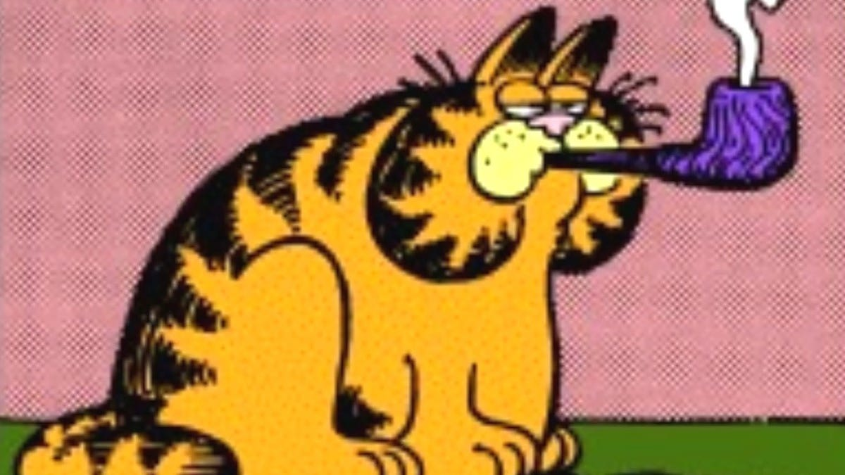 Garfield By Smoking A Pipe Has Opened Up A Whole New World Of Dumb Internet Garfield Jokes