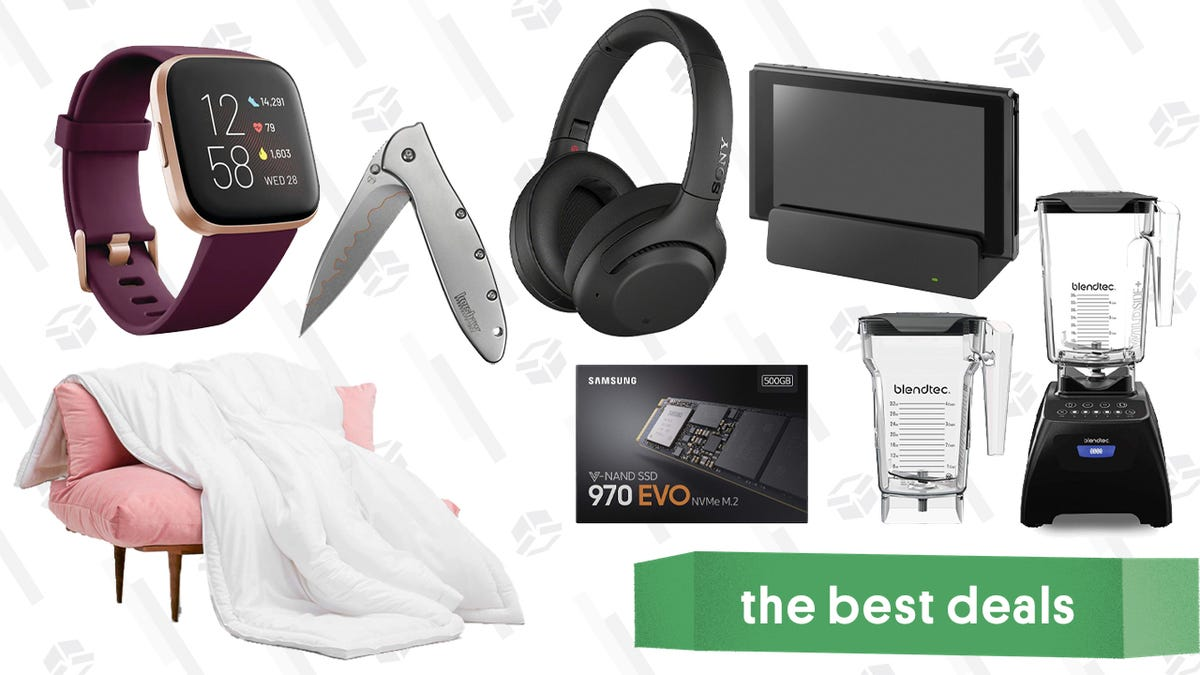 Monday's Best Deals: Sony Noise Canceling Headphones, Samsung SSDs, Buffy Comforters, and More