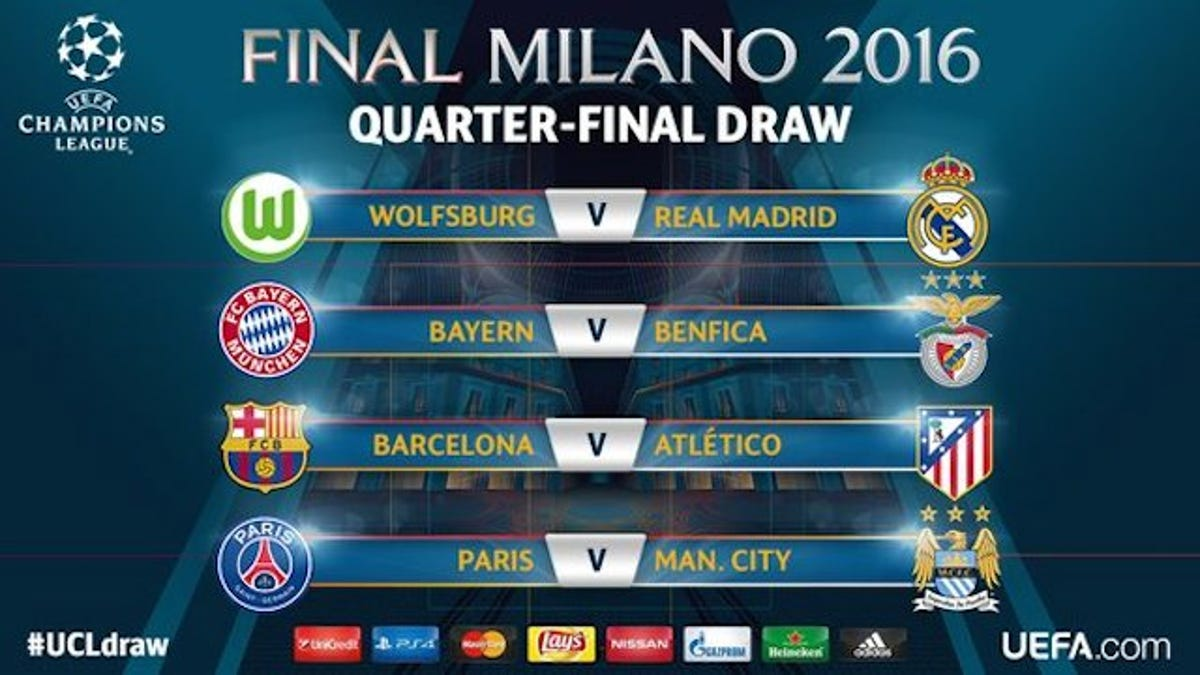 Here's The Champions League Quarter-Final Draw