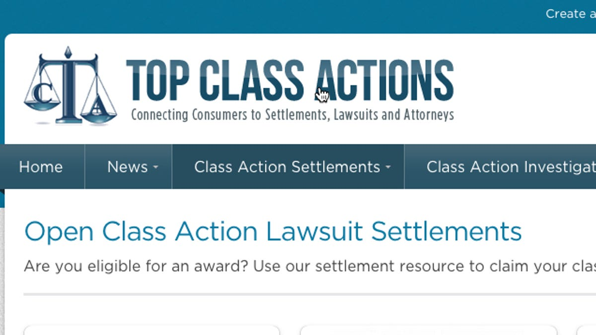 Open Class Action Lawsuits >> Top Class Actions Tells You When Companies Owe You Money