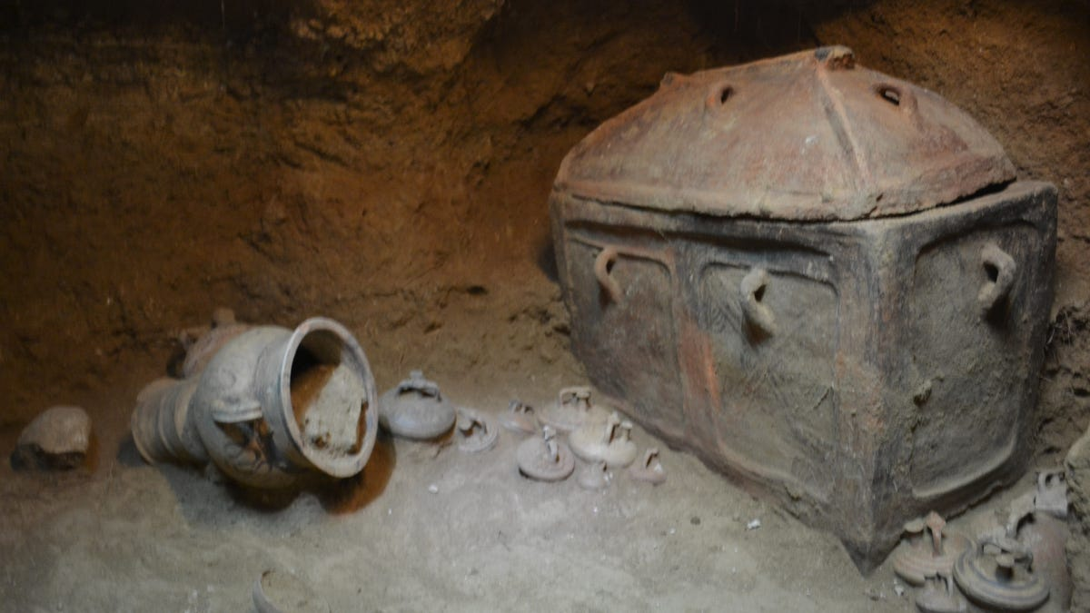 Greek Farmer Discovers 3,400 Year-Old Tomb Beneath His Olive Grove
