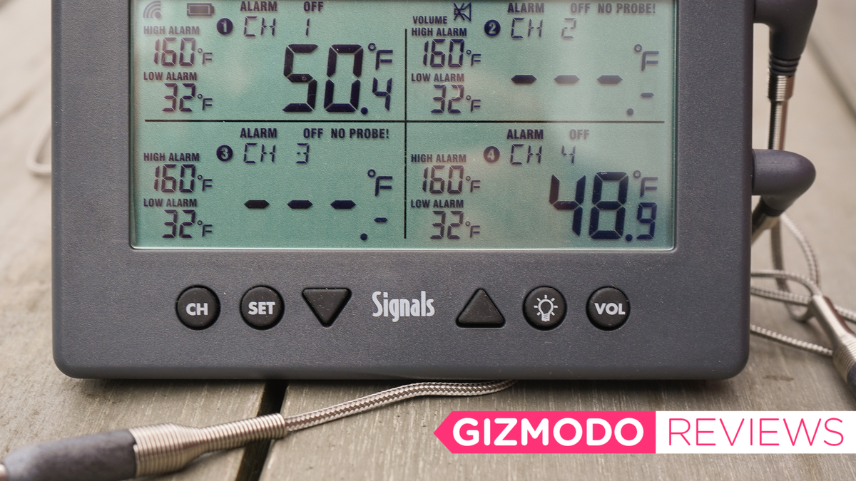 The Signals BBQ Thermometer Wirelessly Watches the Meats