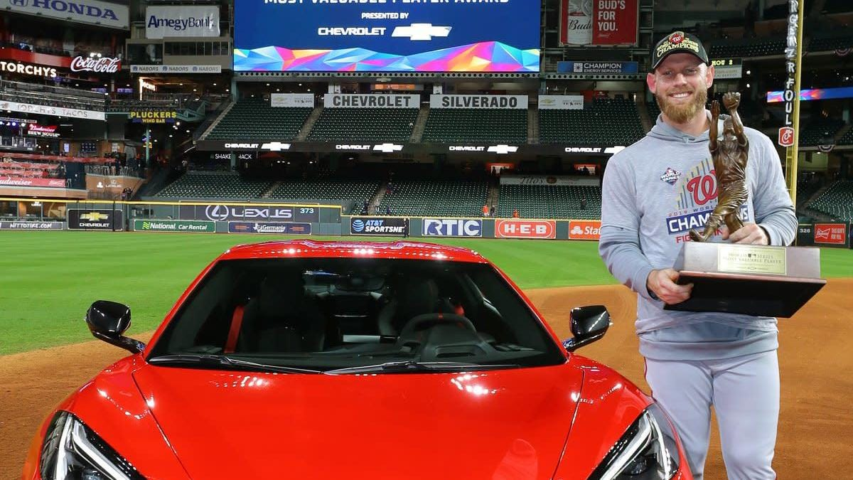 Stephen Strasburg Also Won A C8 Corvette But He'll Have To Wait To Drive It