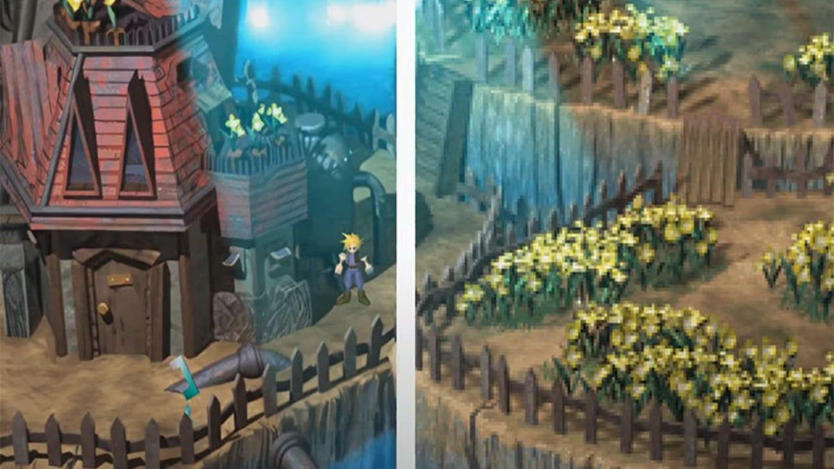 Final Fantasy VII Has Been Upscaled To HD Using AI - Kotaku