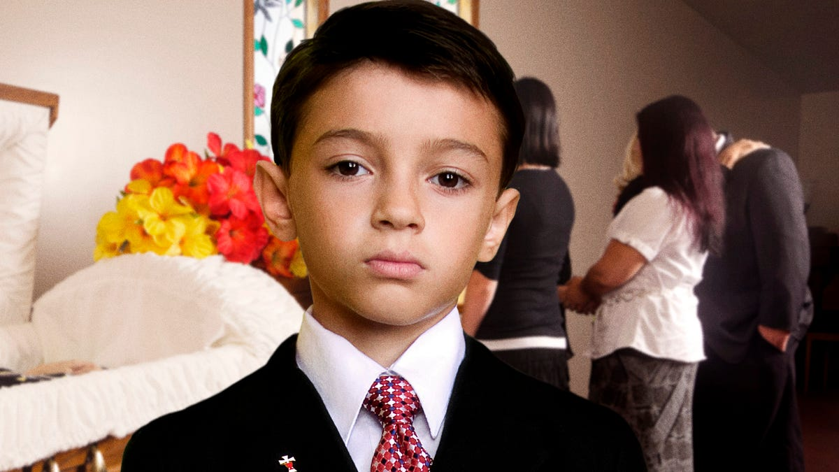 Child Wondering Why Older Brother Only One To Get Funeral