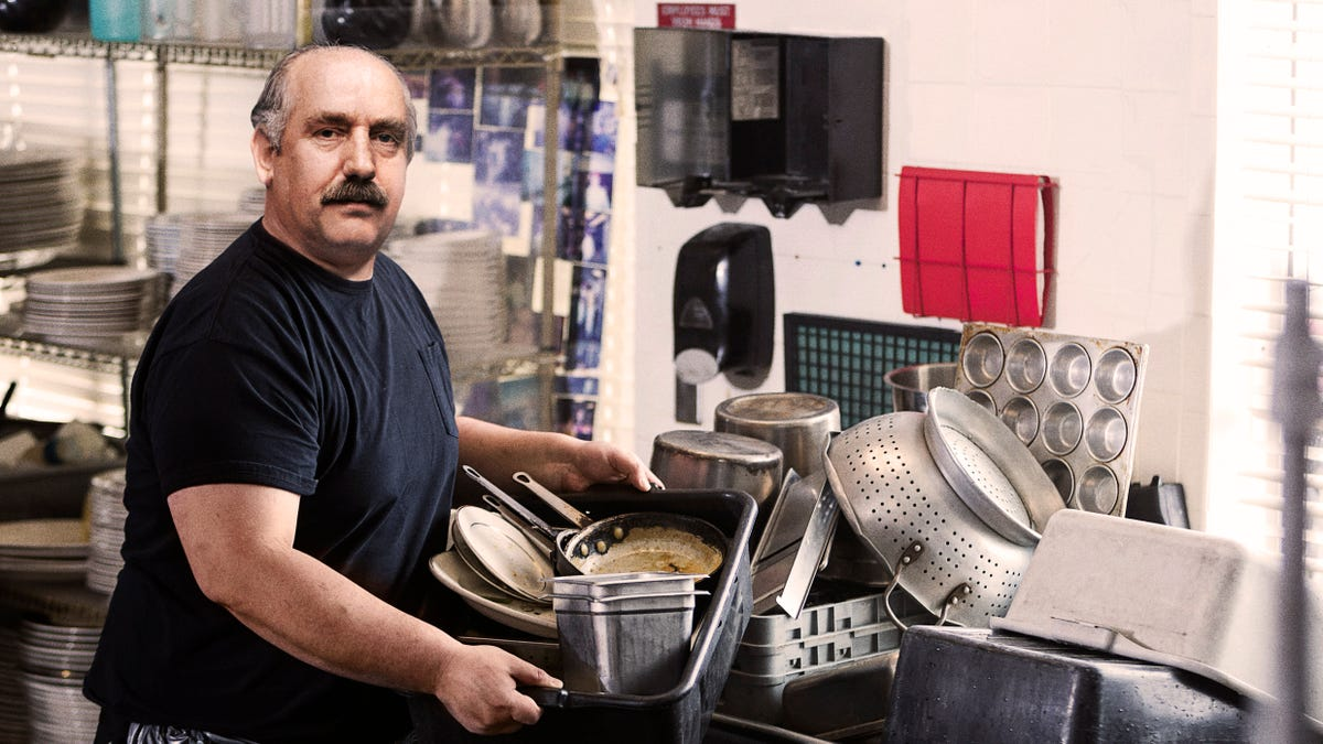 Busboy Father Works Hard Every Day To Take Food Off The Table For His Family