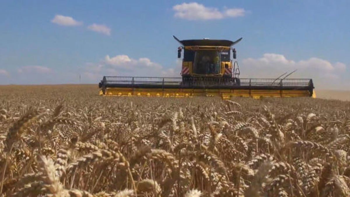 The World's Most Badass Combine Harvester Just Set a World