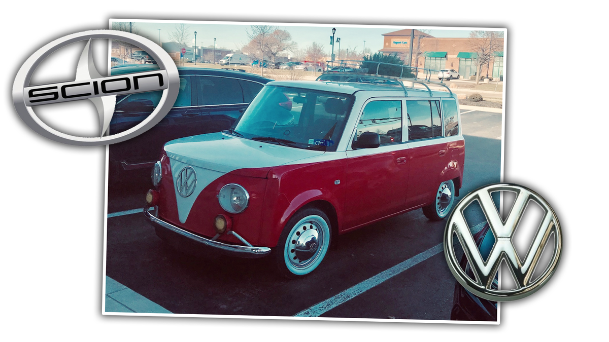 This Scion xB Dressed as an Old Volkswagen Microbus Is Remarkably Well Done