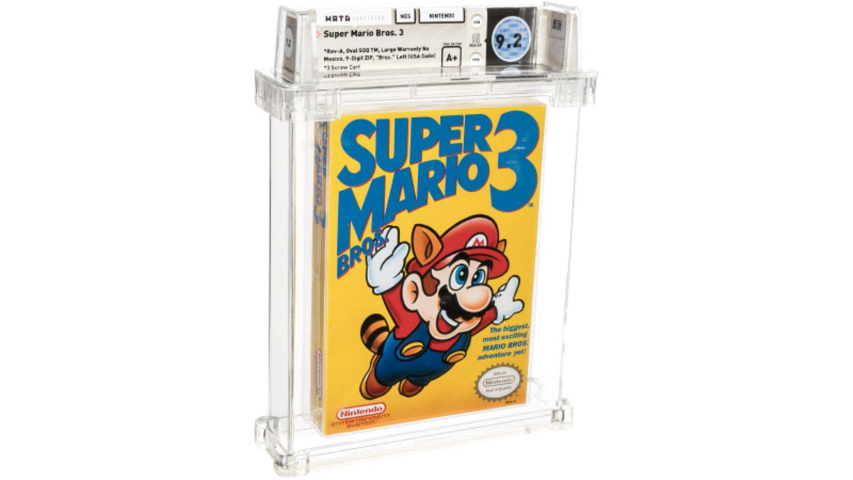 Super Mario Bros. 3 Cartridge Sells For $156,000