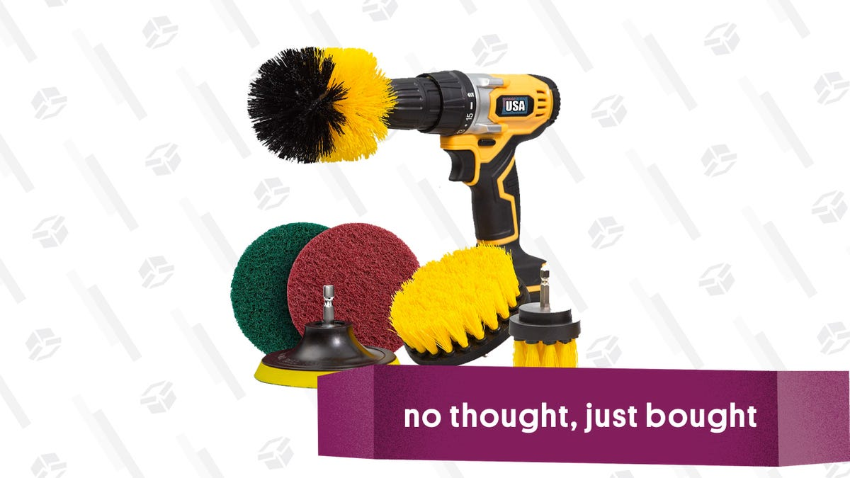 I Said Screw It And Ordered A Drill Brush Attachment, And Now I Actually Look Forward to Cleaning My Sink