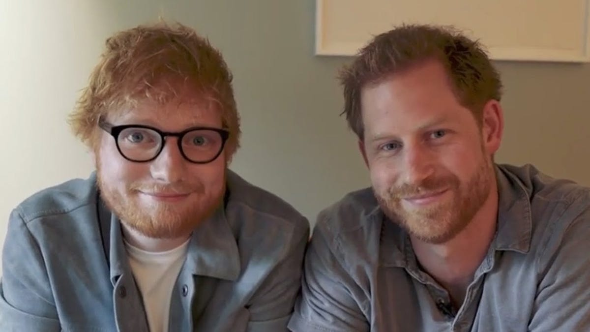 Prince Harry and Ed Sheeran, Together At Last