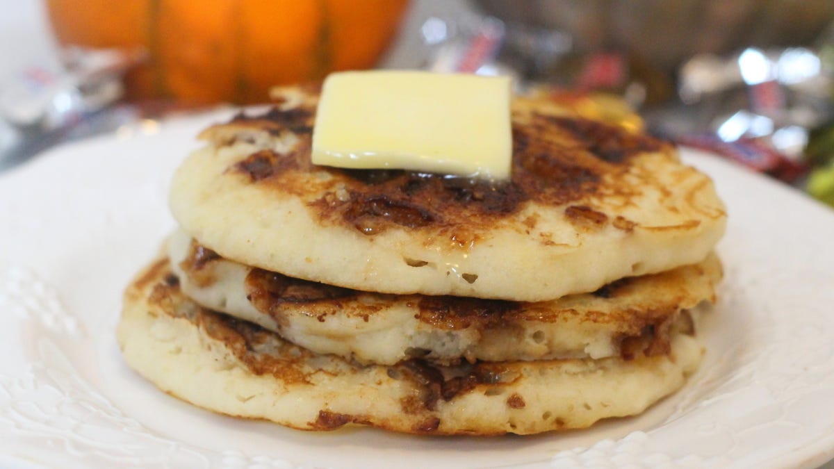 Put Halloween Candy in Pancakes