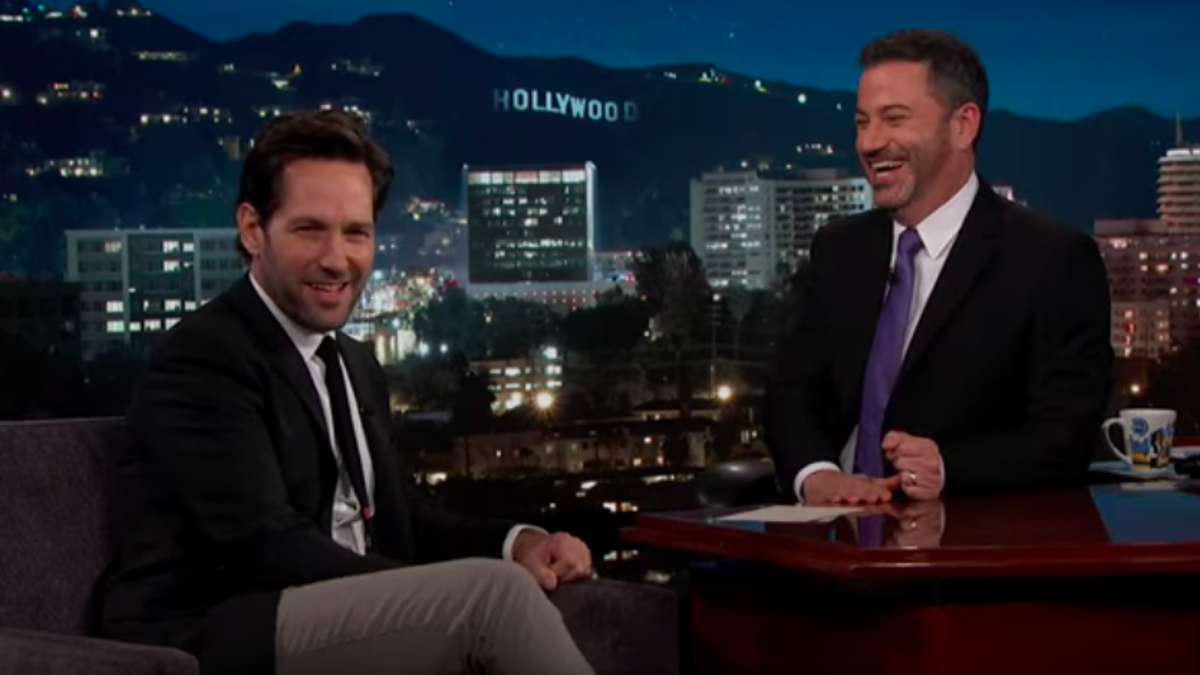 Paul Rudd tells a cool story about moving to New York, a less cool one about being buried alive