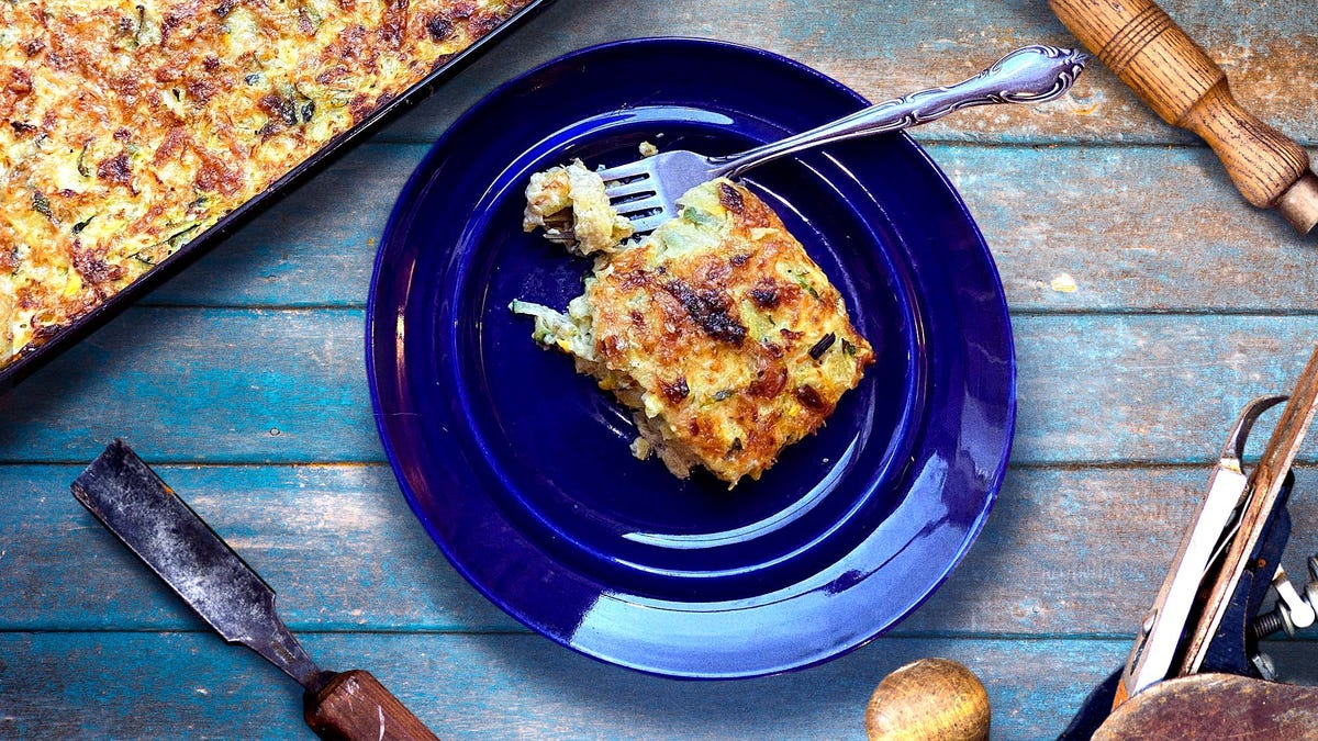 Zucchini Casserole is better with cheddar