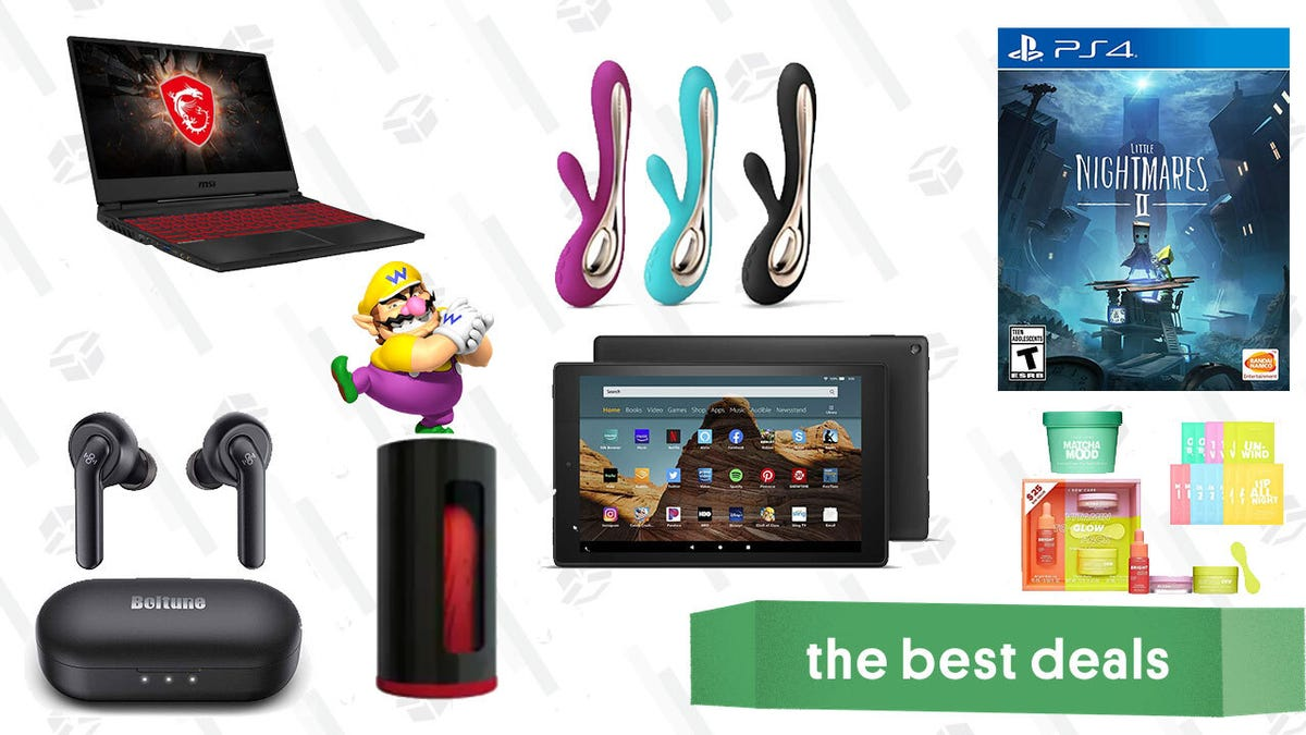 Thursday's Best Deals: Amazon Fire HD 10, Little Nightmares II, Boltune Wireless Earbuds, Lelo F1s + Soraya 2, MSI Gaming Laptop, I Dew Care, Star Projector, and More