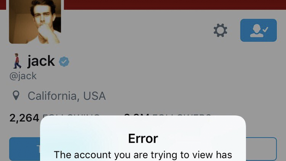 Twitter CEO Jack Dorsey Suspended on Twitter