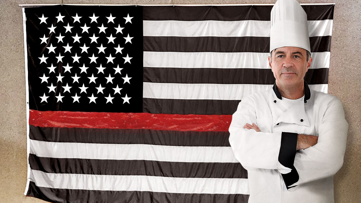 Hardline Pastry Chef Displays American Flag With Raspberry Cream Stripe To Honor Sacrifices Bakers Make Every