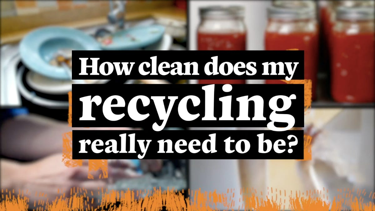 How clean must food containers be in order to recycle them?