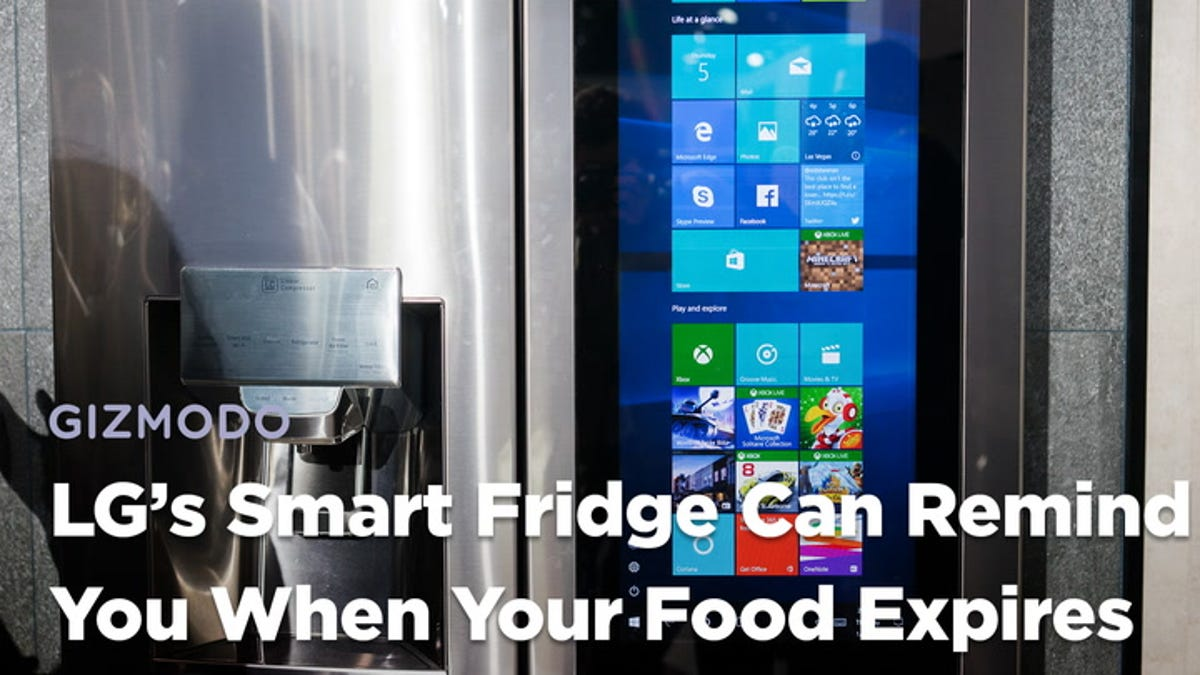 This LG Smart Fridge Has a Windows Brain