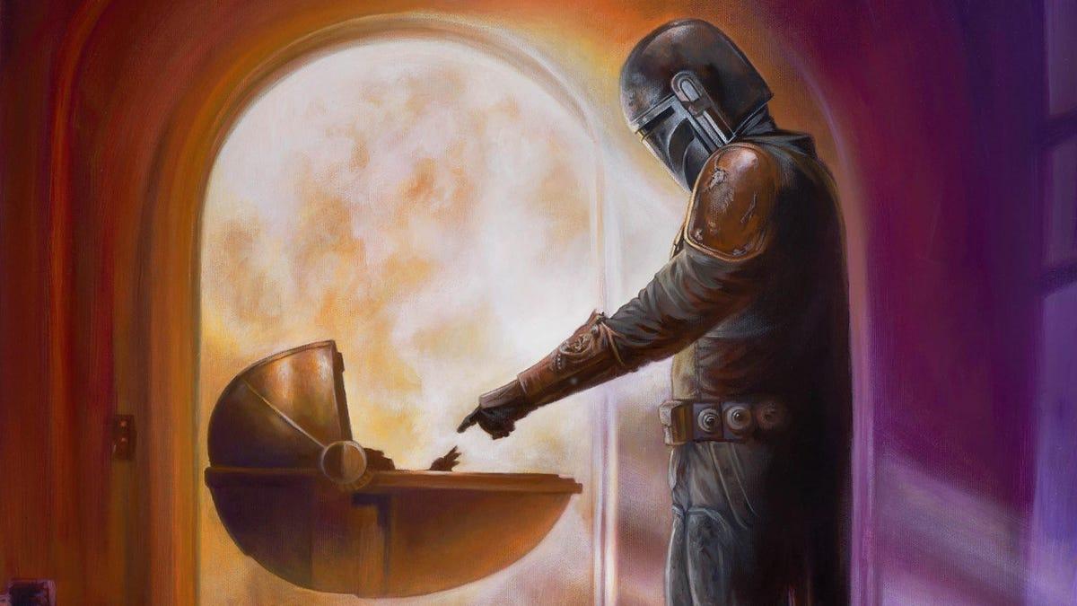 Thomas Kinkade's Studio Is Painting The Mandalorian Now, Seriously