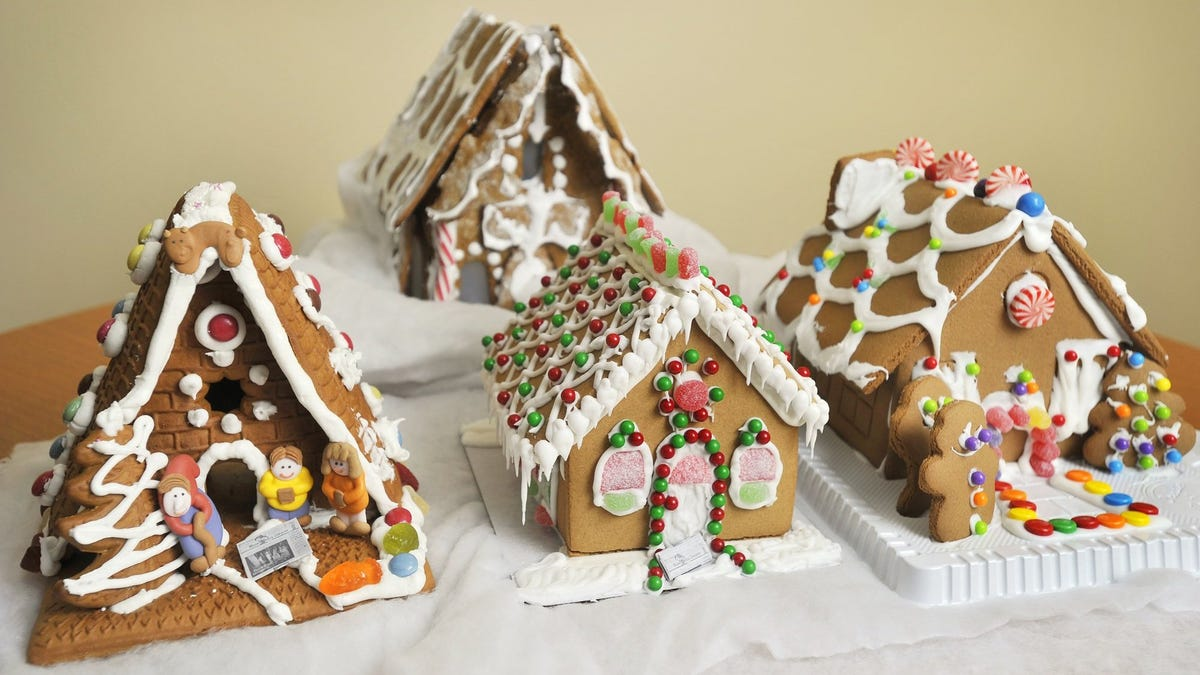 What's the best way to keep your gingerbread house from falling? on marzipan icing, stick pretzels with white icing, gingerbread on houses, lemon glaze icing, cake icing, biscuit icing, birthday icing, basket icing, french vanilla icing,