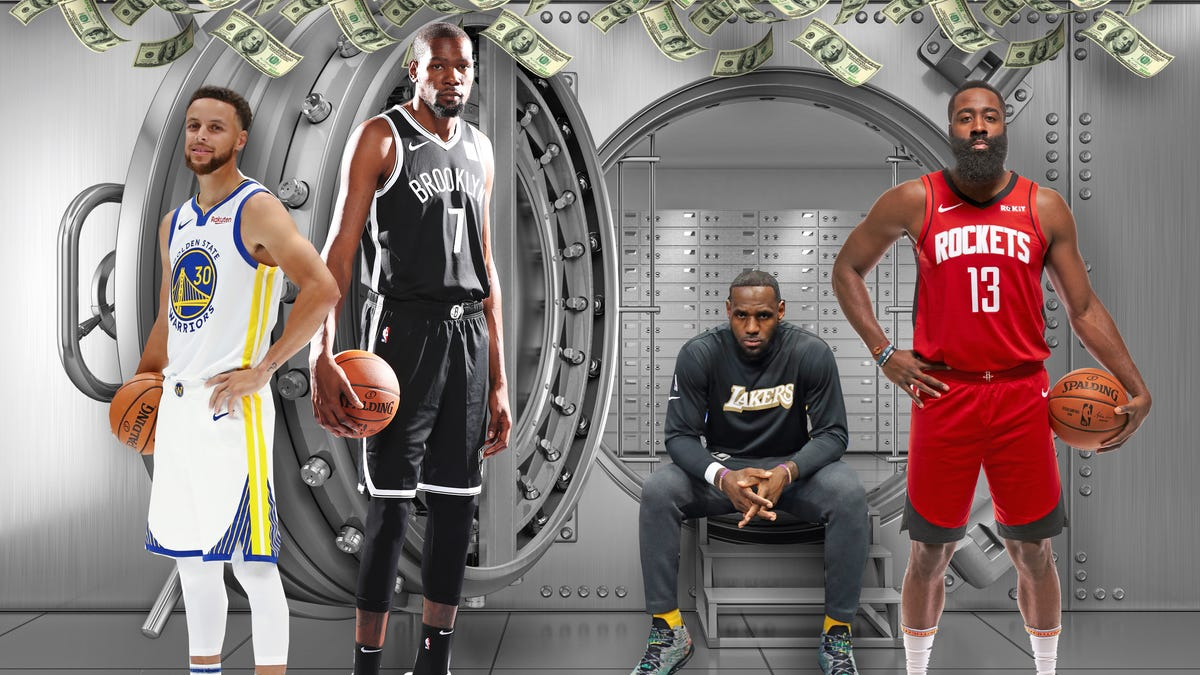 Here are the NBA players who made the most money this year