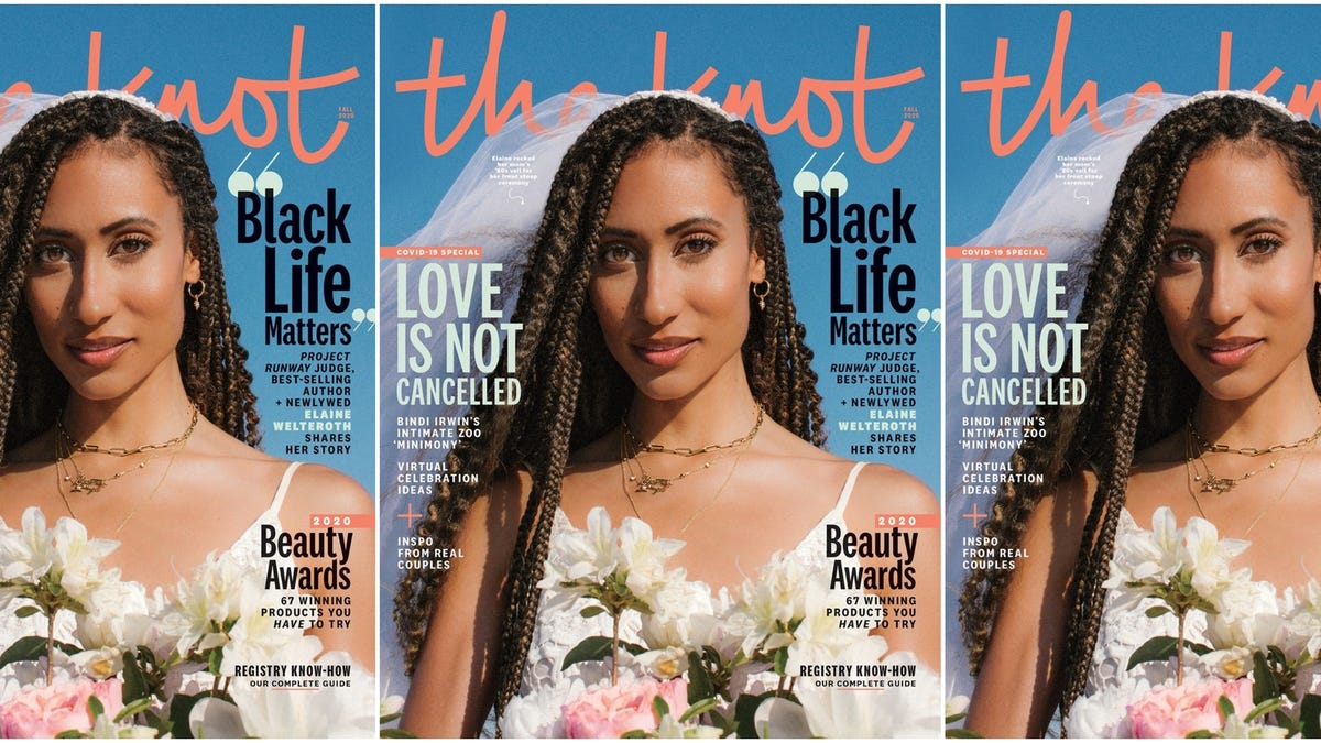 Elaine Welteroth and Jonathan Singletary Discuss Their Viral Wedding With The Knot