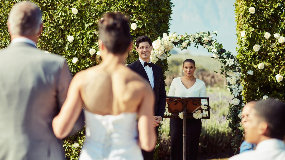 Sight Of His Beautiful Bride Walking Down Aisle Fills Man With Overwhelming Happyish Feeling